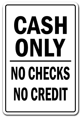 Cash Only Businesses